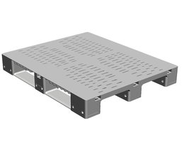 DOLAV Heavy-duty pallet 1200x1000x150 mm, perforated deck , with 3 runners
