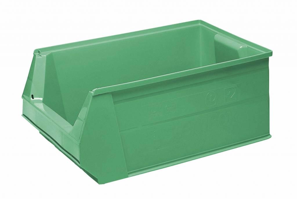 Plastic Storage Bin 500x310x200 Mm 28l Green Genteso