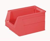 Plastic storage bin 350x210x200 mm, 13L red