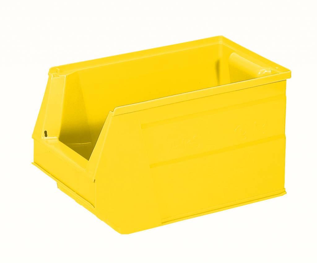Plastic Storage Bin 350x210x200 Mm 13l Yellow Genteso