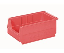 Plastic storage bin 350x210x145 mm, 9L red
