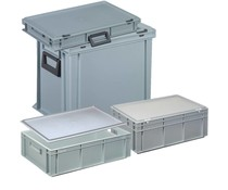 Eurocontainer with lid