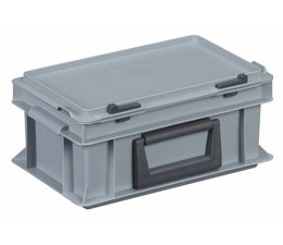 Plastic cases with handles 300x200x133, Grey