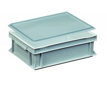 Kunststoffbehälter mit Auflagedeckel 400x300x133