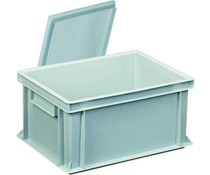 Plastic container with cover lid 400x300x183