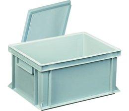 Kunststoffbehälter mit Auflagedeckel 400x300x183