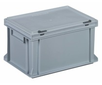 Plastic container with integrated lid 400x300x233