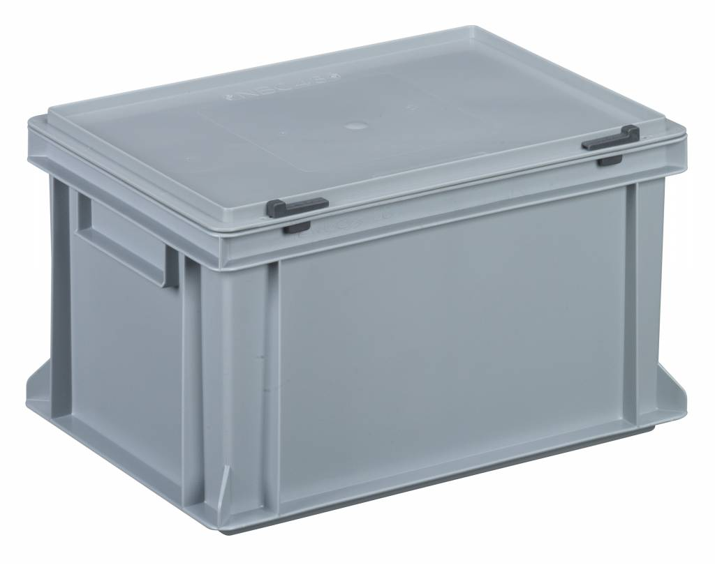 Plastic Container With Integrated Lid 400x300x233 Genteso