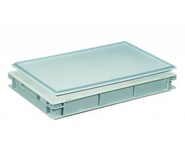 Plastic container with cover lid 600x400x88