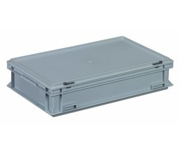Plastic container with integrated lid 600x400x133