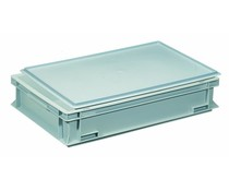 Plastic container with cover lid 600x400x133