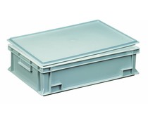 Kunststoffbehälter mit Auflagedeckel 600x400x163