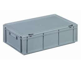 Plastic container with integrated lid 600x400x183, 32,5L