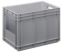 Plastic Euro stacking container with open side