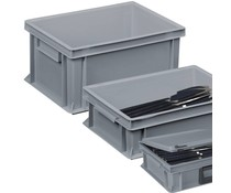 Cutlery crates for restaurants and catering