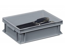 Cutlery bin 400x300x120 solid walls and bottom