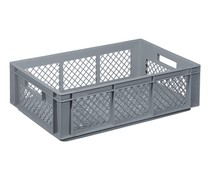Glass crate 600x400x170 perforated walls and bottom
