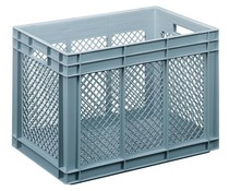 Glass crate 600x400x416 perforated walls and bottom
