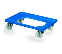 Transport trolley 620x420x170mm with 4 polyamide castors