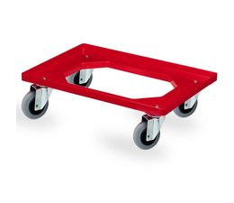 Transport trolley 620x420x170mm with 4 rubber castors, open deck