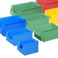 All plastic storage bins