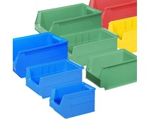 All plastic storage bins