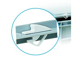 Snap lock closure for lids