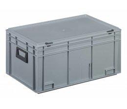 Kunststofkoffer Stapelbehälter mit Deckel und zwei Handgriffen 53,5 L, 600X400x293 mm