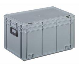 Kunststofkoffer Stapelbehälter mit Deckel und zwei Handgriffen 65,4 L, 600X400x355 mm