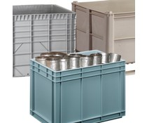 Heavy duty plastic containers
