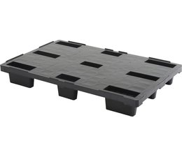 Plastic export pallet 1200x800x155 • closed deck • light weight