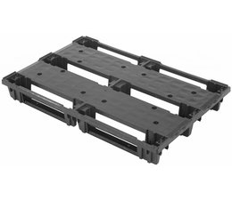 Plastic EURO pallet 1200x800x140 with 3 skids nestable and rackable