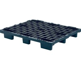Nestable plastic export pallet 1200x1000x160 with 9 feet