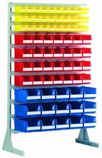 Standing shelfs and mobile racks for storage bins