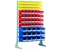 Standing shelfs • mobile rack for storage bins