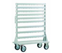 Base frame for mobile racks