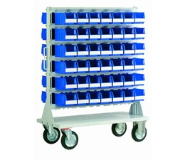 Mobile rack with 84 bins BISB4 Series