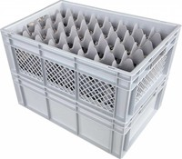 Glass crates for restaurants and catering