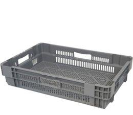 Drehstapelbehälter 600x400x144 perforiert, 26 Liter, 4 Handgriffe