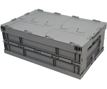 Folding container 600x400x223 • lid • reinforced base