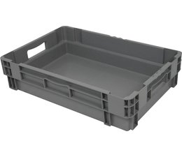 Stack nest container 600x400x140 closed, 2 grips 26 Liter