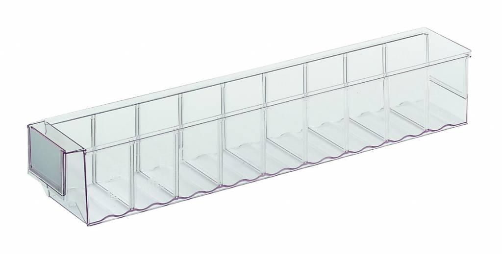 bacs de rangement 500x91x81 transparent genteso. Black Bedroom Furniture Sets. Home Design Ideas