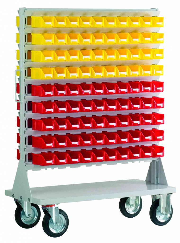 Mobile rack 180 plastic storage bins bisb5 genteso - Mobel reck ...