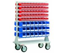 Mobile rack with 100 bins BISB5 Series and 42 bins Series BISB4