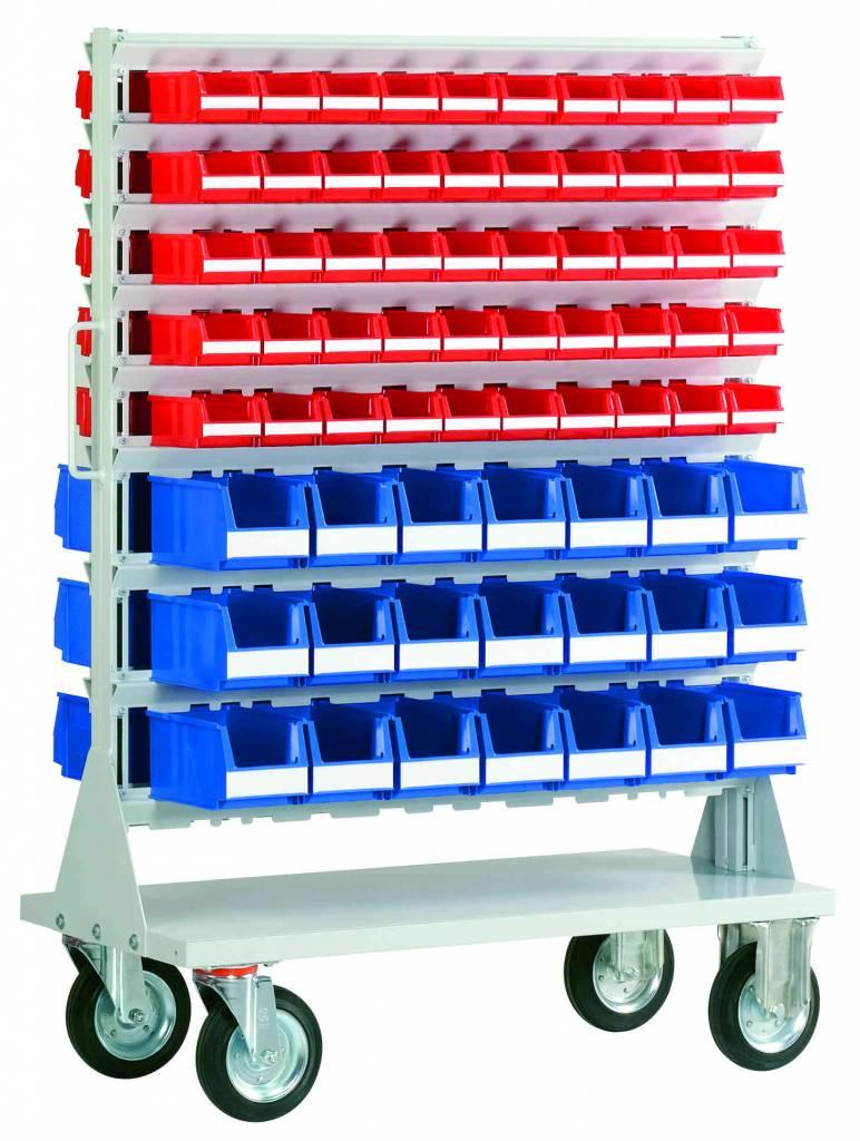 Mobile rack with plastic storage bins genteso - Mobel reck ...