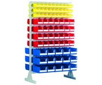 Standing shelf two sides with warehouse bins BISB5 • BISB4 • BISB3Z Series
