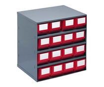 Drawer cabinet 376x300x400 with 16 rack boxes