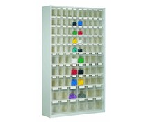 Clear small parts storage system