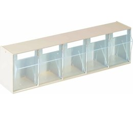 Parts storage case 600x164x133 with 5 boxes