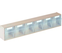 Parts storage case 600x75x113 with 6 boxes